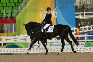 SBRDA President, Sophie Christiansen, riding Mrs Diane Redfern's Athene at RIO Paralympics 2016 winning grade 1A competitions.