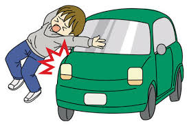 car hit child