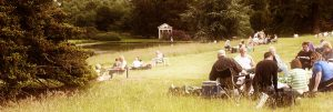 Picnics in Hall Barn Grounds before Shakepeare's Much Ado About Nothing