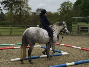 Shera and Robbie practising for the Regional Show